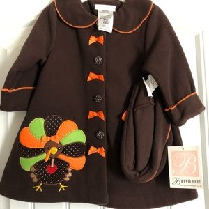 Bonnie Baby Thanksgiving Jacket and Hat 18M